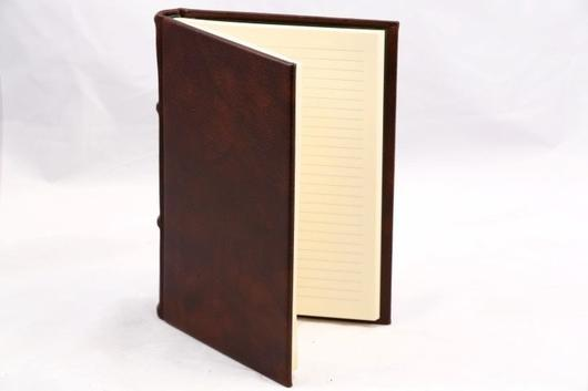 epica Classic Leather Journal with lined pages - brown